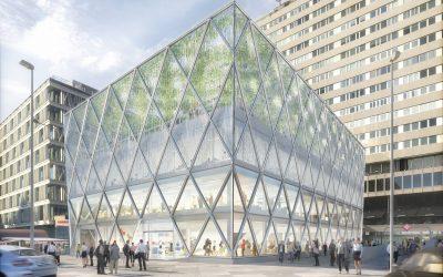 Foster rediseña con acero y vidrio el edificio Barclays de la plaza de Colón de Madrid