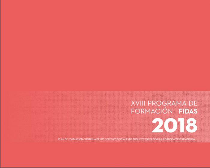 PUBLICADO EL PLAN DE FORMACIÓN FIDAS 2018